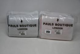 Four as new Pauls Boutique Mini Christy bags (Two black, two dusty pink).