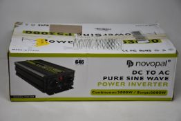 A boxed as new Novopal DC to AC Pure Sine Wave Power Inverter (PS3000).