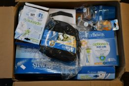 An Assortment of boxed Dr Browns baby feeding items to include Bottle Sterilizer/Dryer and bottle
