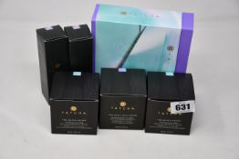 A quantity of boxed as new Tatcha cosmetics: The Starter Ritual (balancing & anti-aging set), two