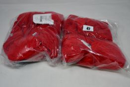 Six children's as new Satila Malva hats in red (Size 49).