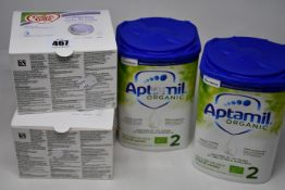 Four boxed as new Cow&Gate Nutriprem Human Milk Fortifier and six boxed as new Nutricia Aptamil