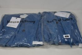 Two as new House of Sunny Western full length shackets (UK 10 and 12 - RRP £75 each).
