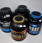 Two BioTech USA ISO Whey Zero protein isolate drink powders (2270g) inlemon cheesecake and