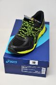 A pair of as new Asics Gel-FujiTrabuco 6 G-TX trainers (UK 10).