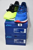 Two pairs of as new Asics Gel-Pulse 10 trainers (UK 11, 11.5).