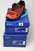Two pairs of as new Asics Gel-Venture 6 trainers (UK 11.5, 12).