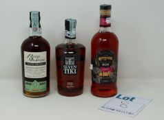 Three bottles of miscellaneous Rums to include Rum Malecon Rare Proof 20 year old 70cl and Seven