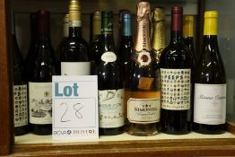 A quantity of assorted wine and related items to include Bolongbao blanc, Simonsig brut rose,