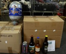 A large quantity of assorted beers, ciders and related items to include Pictish Brewers Gold