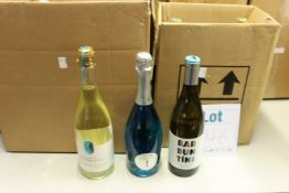 A quantity of assorted wine and related items to include L.A Brewery sparkling english rose,