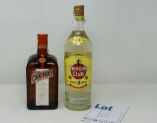 Five as new Cointreau liquors 1000ml together with four Havana Club aged rum 1L (Over 18s only).