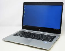 "A pre-owned HP EliteBook 840 G5 14"" Laptop in Silver with Intel Core i7-8650U, 16GB RAM, 256GB SSD"
