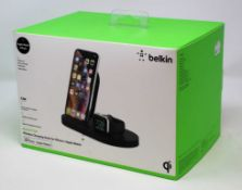 A boxed as new Belkin Boost Up Wireless Charging Dock for iPhone and Apple Watch (M/N: