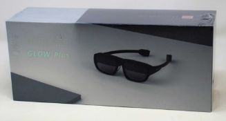 A boxed as new pair of Mad Gaze GLow Plus AR Glasses in Midnight Black (Box sealed).