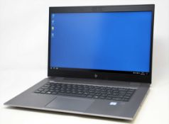 """A pre-owned HP ZBook Studio G5 15.6"""" Laptop in Silver with Intel Core i7-9850H, 16GB RAM 512GB SSD"""
