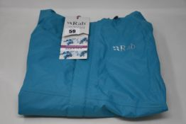 Three women's as new Rab Downpour jackets (Sizes 10, 12, 14).