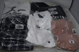 Six items of as new Hollister clothing; faux leather jacket (S - RRP £59), hoodies (M - RRP £39),