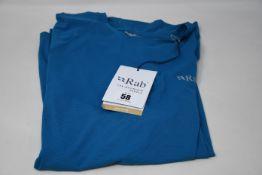 Eight as new Rab Force short sleeve T-shirts (1 x S, 2 x m, 2 x L, 2 x XL, 1 x XXL - RRP £27 each).