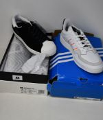 A pair of as new Adidas Superstar Pure sneakers (UK 7.5 - No box lid) and a pair of Adidas