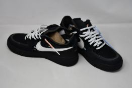 A pair of as new Nike X Off-White The 10th: Air Force 1 low sneakers (UK 8 - No box).