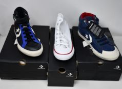 Four pairs of as new junior/youth Converse footwear; two Pro Blaze Strap Hi (UK 5), Chuck Taylor All