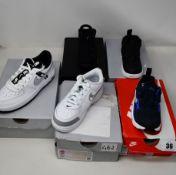 Five pairs of as new toddler Nike trainers; Force 1 LV8 KSA (UK 11.5), Jordan 6 Retro DMP (UK 5.