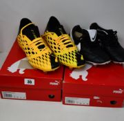 A pair of as new Nike Premier football boots (UK 8 - No box) together with two pairs of as new