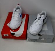 A pair of as new Nike Air Force 1 WW (UK 4.5) and a pair of Nike Court Borough Low (UK 6 -
