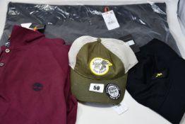 Two as new Superdry Echo Beach jackets (XL, XXL - RRP £42 each), a Superdry Outdoorsman cap,
