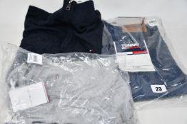 An as new Tommy Hilfiger Pima cotton cashmere zip mockneck jumper (S - RRP £77), boat neck T-