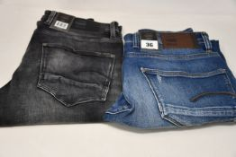 Four pairs of as new G-Star Raw jeans (All W32/L32).