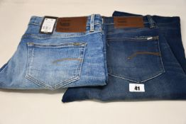 Four pairs of as new G-Star Raw jeans (All W36 L 2 x 32, 2 x 34).