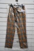 A pair of as new Burberry Hanover trousers (Size 10 - RRP £430).