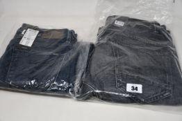 Four pairs of as new G Star Raw jeans (W25/L30, W27/L28, 2 x W27/L32).