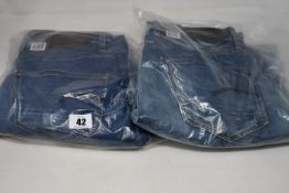 Four pairs of as new G-Star Raw jeans (All W32 L30, 32, 34, 36).