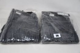 Four pairs of as new G-Star Raw jeans (All W28 L 2 x 30, 1 x 32, 1 x 34).