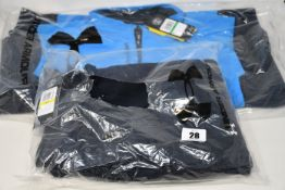 An as new Under Armour Rival fleece joggers (M - RRP £42) and two Storm Evolution Daytona ½ zip tops