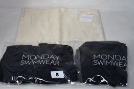 Five items of as new Monday Swimwear; a Tulum top (S/M - RRP £48), Tulum bottom (S/M - RRP £42), two