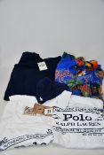 Assorted as new Ralph Lauren clothing; two standard white T-shirts (L - RRP £40 each), two classic