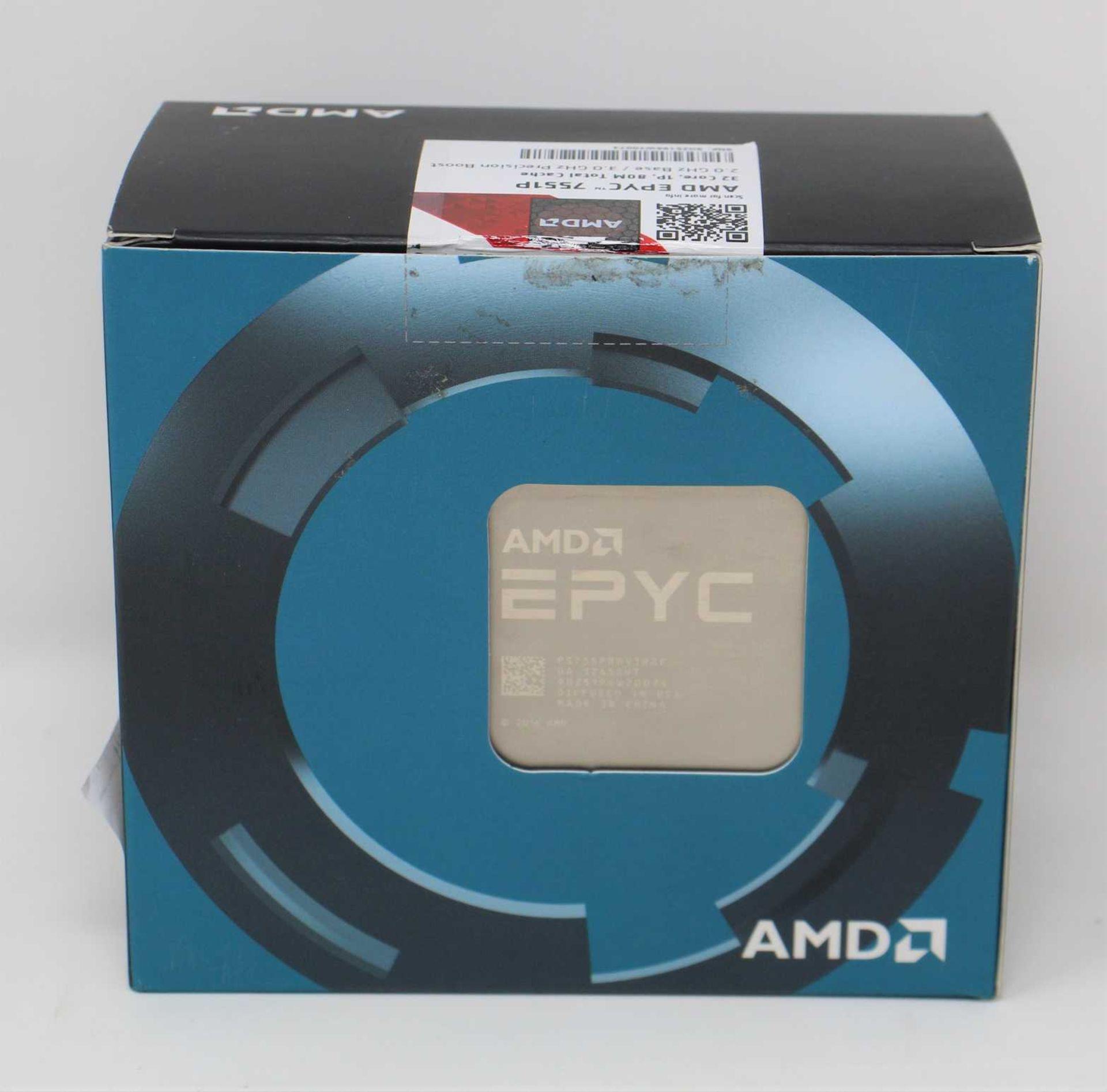 A pre-owned AMD EPYC 7551P 32-Core 2.0 GHz Socket SP3 180W Server Processor (P/N: PS755PBDAFWOF) (