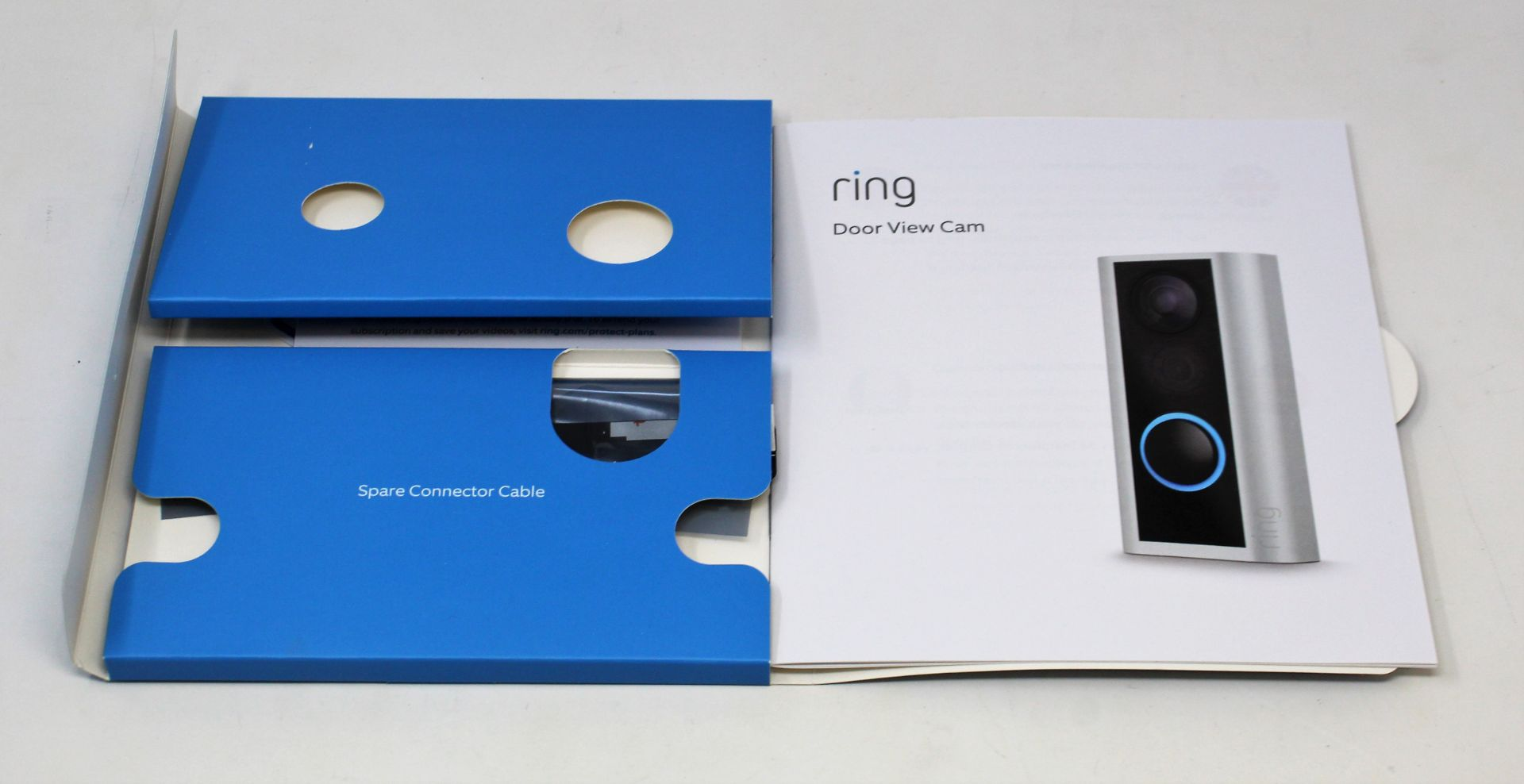 A boxed Ring Door View Cam in Silver (Appears as new. Damaged box). - Image 6 of 7
