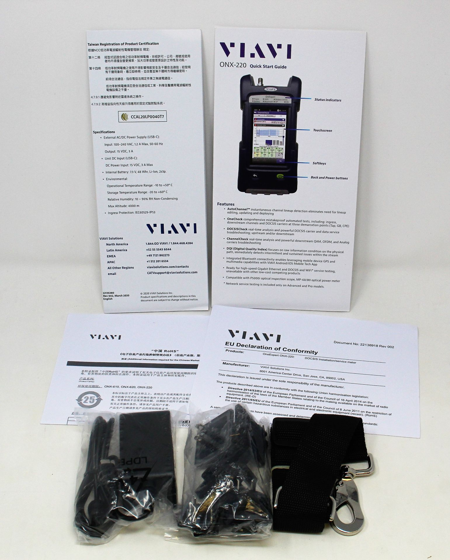 A boxed as new Viavi OneExpert DSP 65/204 ONX-220 DOCSIS Installation & Service Meter ( - Image 5 of 7