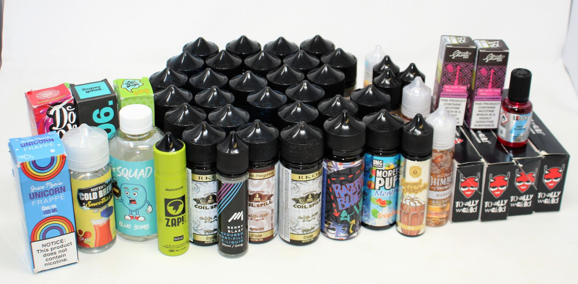 A quantity of assorted E-Liquids to included Juice N' Power, Coil Spill and Totally Wicked (Over - Image 8 of 9