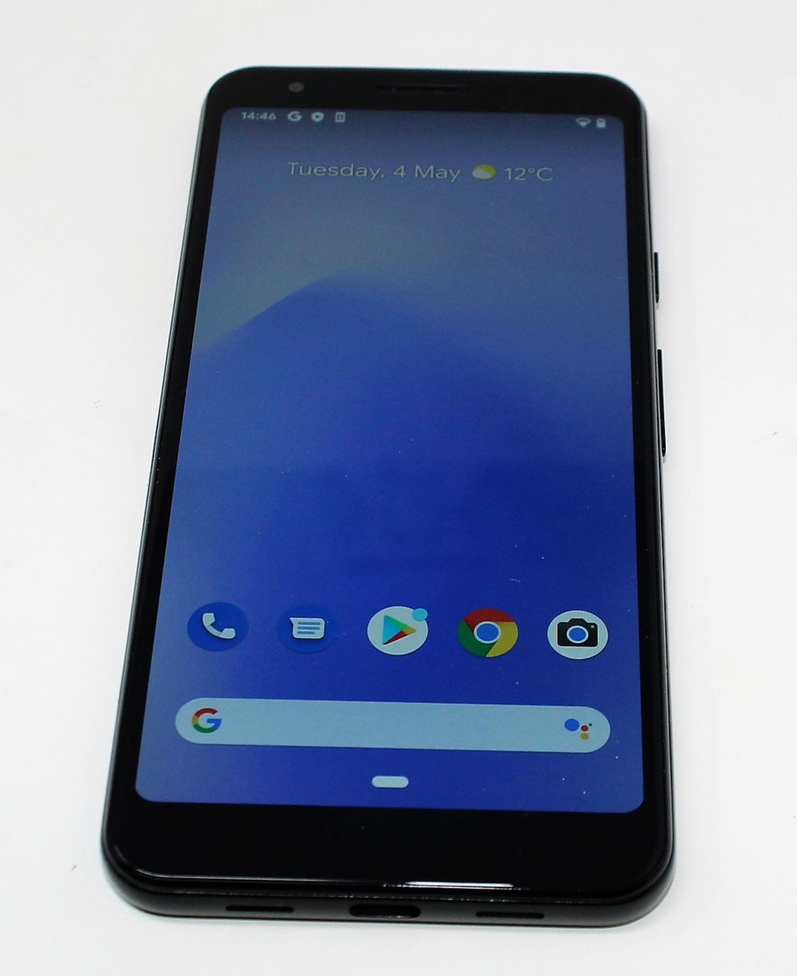 A pre-owned Google Pixel 3a G020G 64GB in Just Black (FRP clear) (Checkmend report ID: CM16922336- - Image 7 of 15
