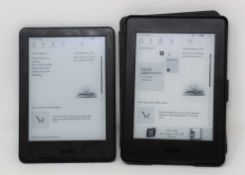 A pre-owned Amazon Kindle 10th Gen E-Reader in Black (M/N: J9G29R) (Some cosmetic scratches to
