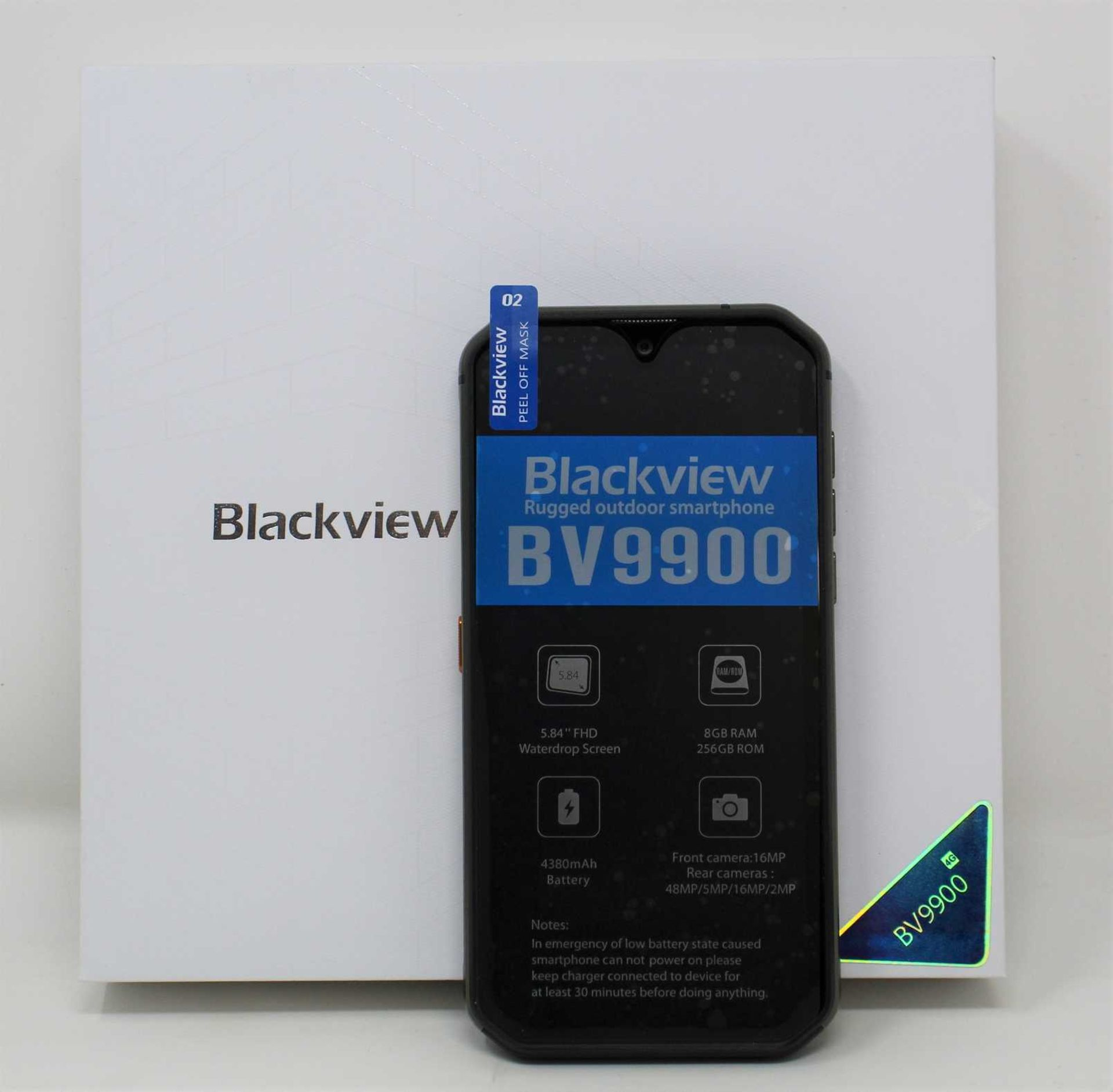 A pre-owned Blackview BV9900 PRO (EEA) IP68 8GB 256GB Rugged Smartphone in Grey (FRP clear,