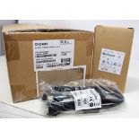 A boxed as new Zebra Symbol CRD4001-411EES Four Slot Ethernet Cradle Kit For WT4000 Series Barcode