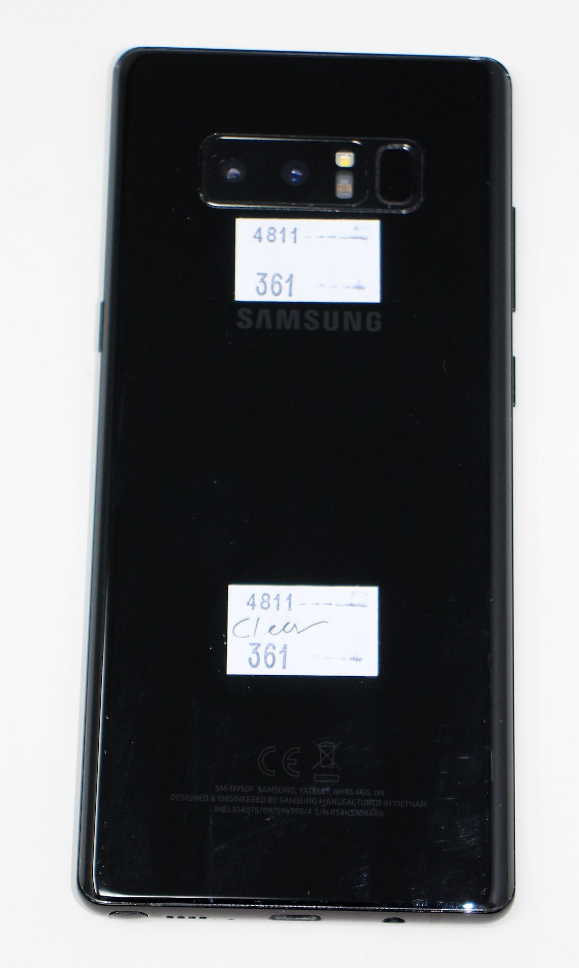 A pre-owned Samsung Galaxy Note 8 SM-N950F 64GB in Black (FRP clear. Some cosmetic scratches to - Image 7 of 7