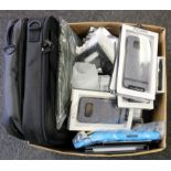 A quantity of assorted as new laptop bags and phone cases.